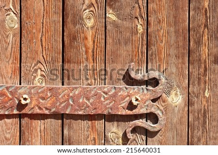 Vintage Door Hinges - stock photo
