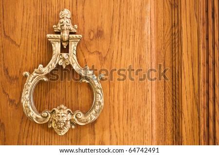 Vintage door knocker - stock photo