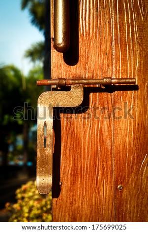 vintage door lock - stock photo