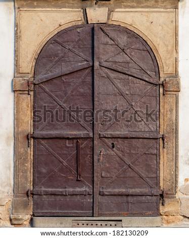 Vintage  Door, Prague, Czech Republic - stock photo
