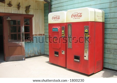 Vintage Drinks machines - stock photo