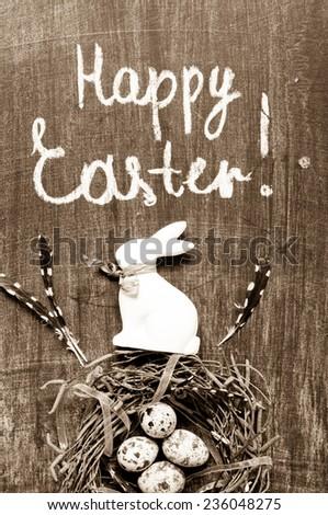 Vintage Easter background - stock photo