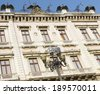 Vintage - eclectic architecture - Front of the Palace of Catete - historical and cultural - Rio de Janeiro city  - stock photo