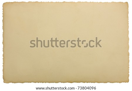 Vintage Edge Photo Background Texture Isolated Back Blank Reverse Side