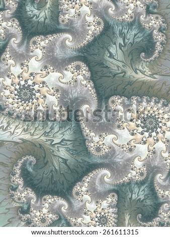 Vintage effect  floral ornamental fractal design background - stock photo