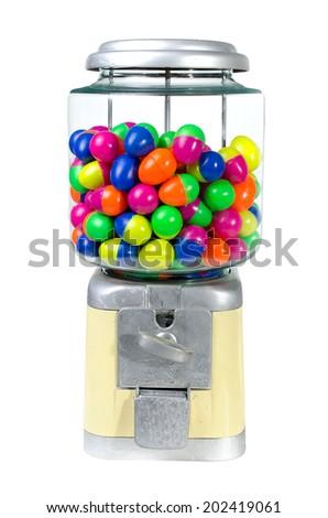 Vintage Eggs Slot Machine isolate on White Background .  - stock photo