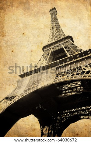 Vintage Eiffel tower - stock photo