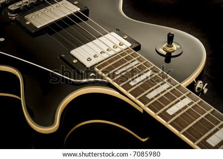 Vintage Electric Guitar - stock photo