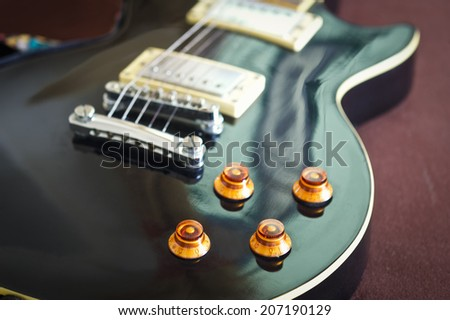 Vintage Electric Guitar Electric Guitar - stock photo