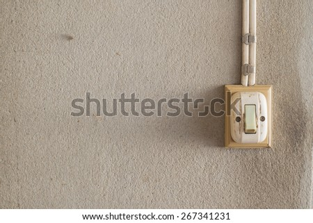 vintage electric switch - stock photo