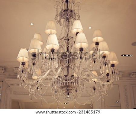 Vintage elegant light fixture - stock photo