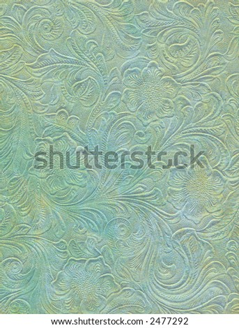 Vintage Embossed Parchment - stock photo