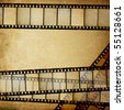 Vintage empty positive films background with space for text. - stock photo