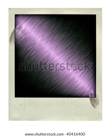 Vintage empy photo with ingerprint isolated on a white background - stock photo