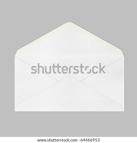 Vintage Envelope on gray background. - stock photo