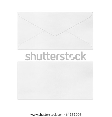 Vintage Envelope  on white. - stock photo