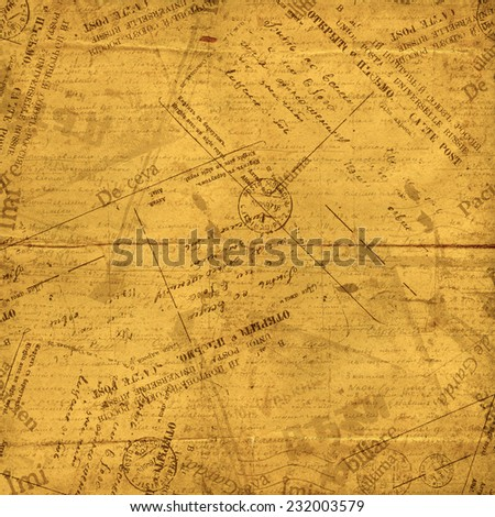 Vintage envelopes, old letters and torn documents - stock photo