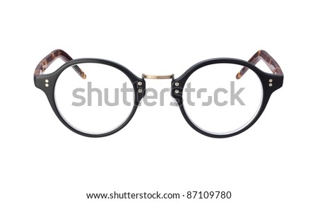 Vintage Eyeglasses isolated with a clipping path