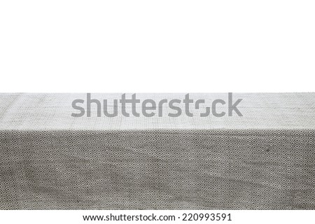 vintage fabric cloth on table - stock photo