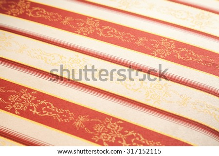 vintage fabric textile with selective focus - stock photo