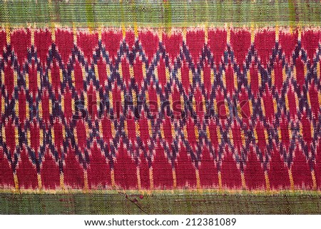 Vintage fabric Thailand is made of hand-woven thai silk fabric Are most commonly used in the Northeast of Thailand.
