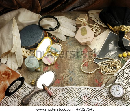 Vintage fashion background - stock photo