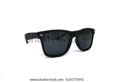 vintage fashion Sunglasses men isolated on white background cut out top view