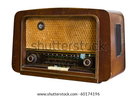 Vintage fashioned radio - stock photo