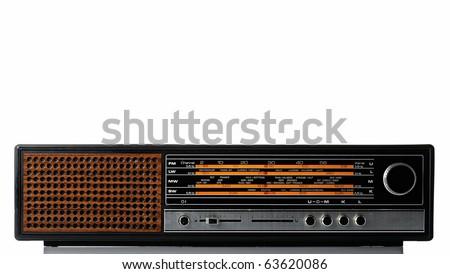 Vintage fashioned radio - stock photo