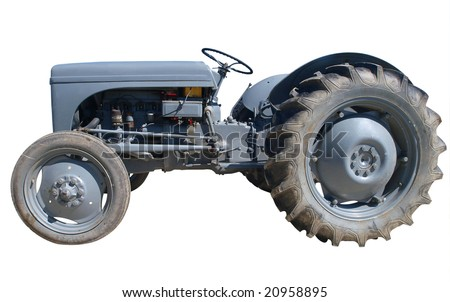Vintage Ferguson Tractor isolated with clipping path - stock photo