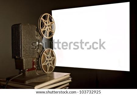 Vintage Film Projector - stock photo