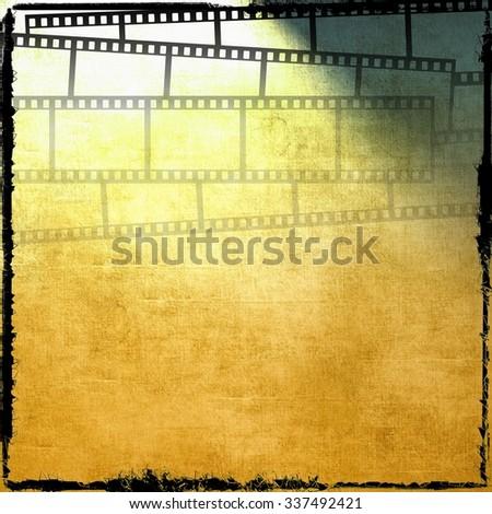 Vintage film strip background - stock photo