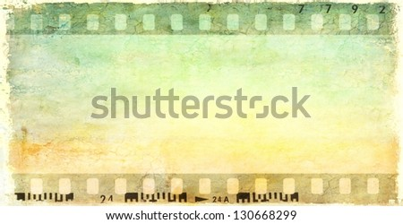 Vintage film strip frame - stock photo