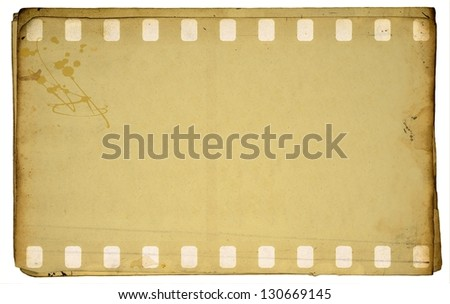 Vintage film strip frame