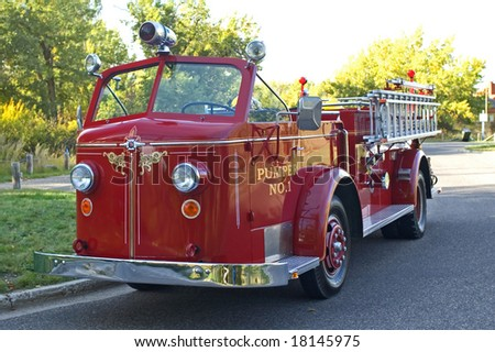 Vintage Fire department truck.