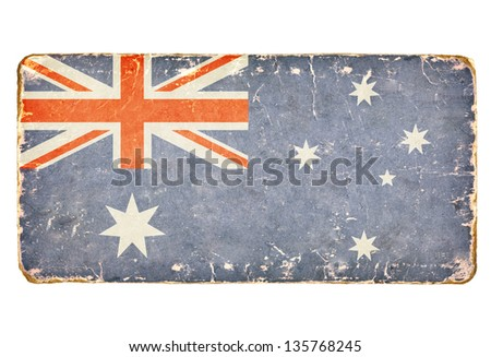 Vintage flag of Australia. - stock photo