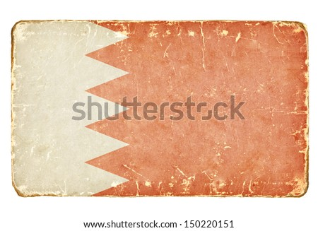 Vintage flag of Bahrain. Background. - stock photo