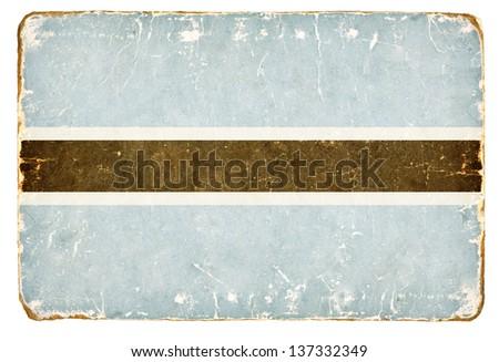 Vintage Flag of Botswana. - stock photo