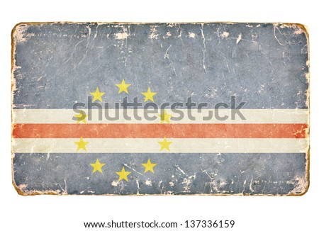 Vintage flag of Cape Verde. - stock photo