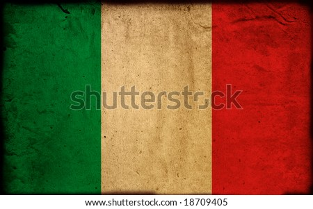 vintage flag of italy - stock photo