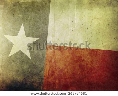 Vintage Flag - Texas - stock photo