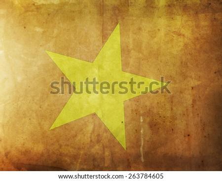 Vintage Flag - Vietnam - stock photo