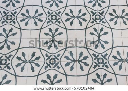 Vintage Floor Tiles Thai Design Tile Stock Photo (Safe to Use ...