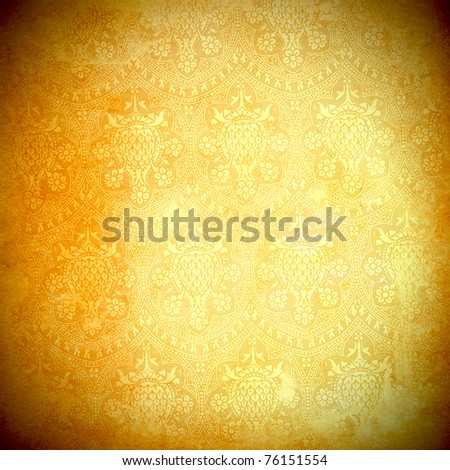 vintage flora background - stock photo