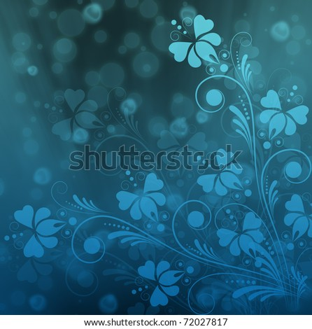 vintage floral  background with decorative flowers for design - stock photo