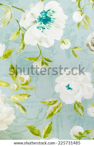 Vintage floral fabric - stock photo