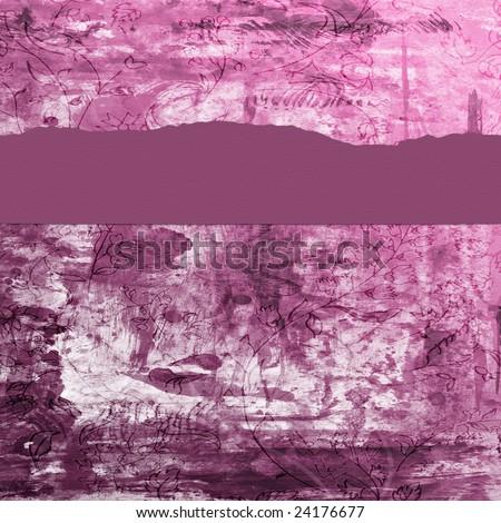 Vintage floral grunge background. - stock photo