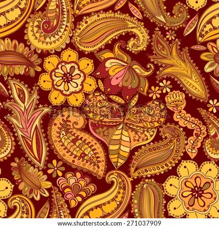 paisley vintage floral motif ethnic seamless stock illustration 384941845 shutterstock. Black Bedroom Furniture Sets. Home Design Ideas