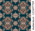 vintage floral paisley seamless pattern, raster version - stock photo