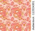 vintage floral seamless paisley pattern. Raster version - stock photo